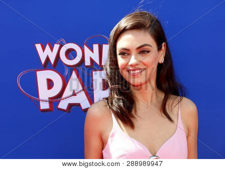Mila Kunis at the World premiere of 'Wonder Park' held at the Regency Bruin Theatre in Westwood, USA on March 10, 2019.