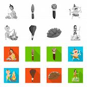 Vector design of evolution  and prehistory sign. Set of evolution  and development  vector icon for stock. poster