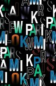 Beautiful design with colorful letters black background poster