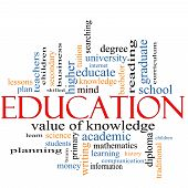 A word cloud concept around the word Education with great terms such as degree diploma university reading and more. poster