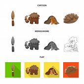 Vector illustration of evolution  and prehistory logo. Set of evolution  and development  stock vector illustration. poster