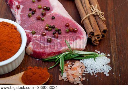 Raw Uncooked  Ribeye Braw Uncooked  Ribeye Beef Steak Butcher Selectioneef Steak