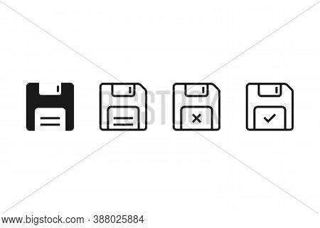 Floppy Disk Icon. Save File Symbol. Retro File Storage. Backup Archive Sign. Floppy Disk Memory Disk