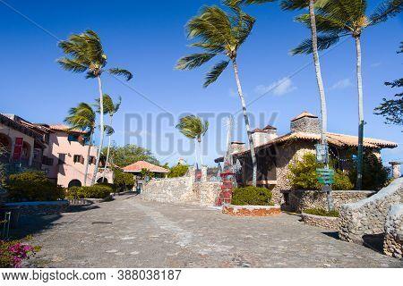 Altos De Chavon, Dominican Republic - Dec. 12, 2019: Altos De Chavon City Streets