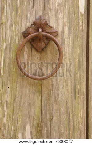 rusted door-knocker poster