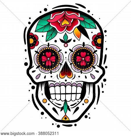 Traditional Mexican Sugar Skull. Traditional Mexican Sugar Skull. Vector Illustration. Dia De Los Mu