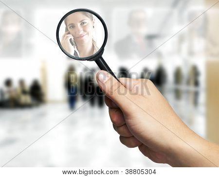 Concepto de recursos humanos: elegir el candidato perfecto para el trabajo