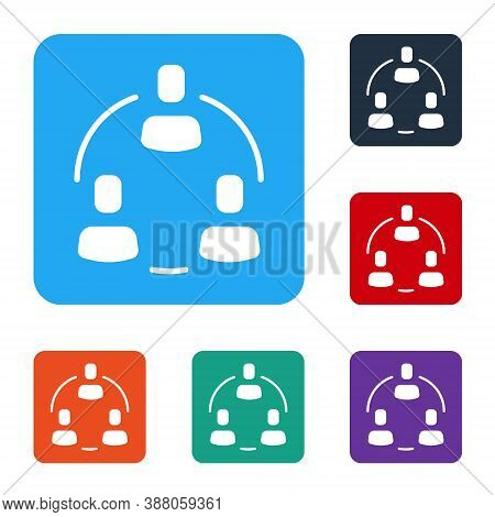 White Project Team Base Icon Isolated On White Background. Business Analysis And Planning, Consultin