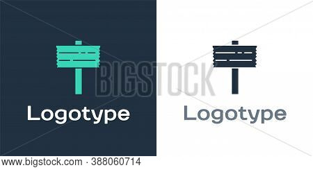Logotype Road Traffic Sign. Signpost Icon Isolated On White Background. Pointer Symbol. Street Infor