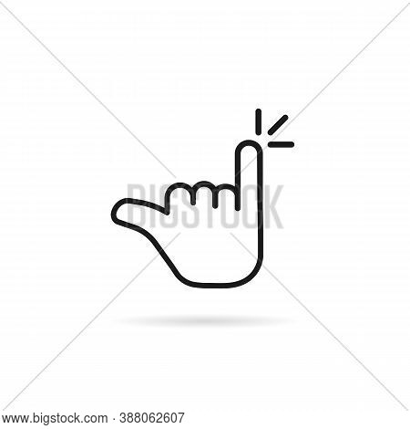 Minimal Linear Pinky Finger Like Promise. Concept Of Reconciliation Or Oath Between Friends Or Lover