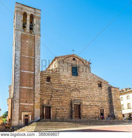 Montepulciano,italy - September 5,2020 - View At The Cathedral Of Santa Maria Assunta In Montepulcia