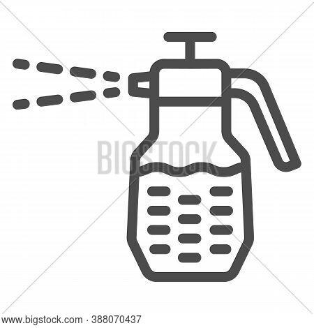 Garden Sprayer Line Icon, Garden And Gardening Concept, Pulverizer Sign On White Background, Spray B
