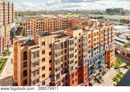 Cityscape Of House Building Exterior Mixed-use Urban Multi-family Residential District Area Developm