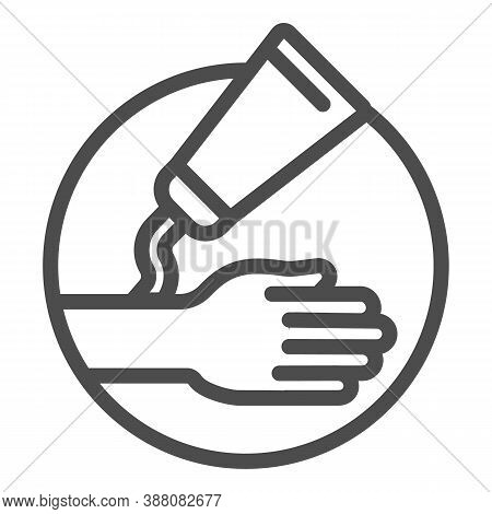 Ointment And Hand Line Icon, Health And Medical Concept, Hypoallergenic Cream Sign On White Backgrou