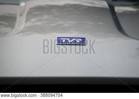 Toronto, Canada - 08 18 2018: Logo Of British Independent Manufacturer Of High-end Sports Cars Tvr O