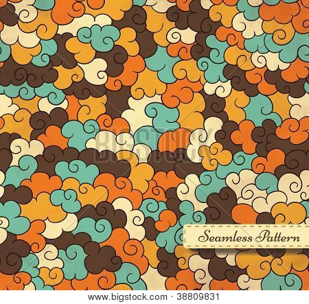 Abstract seamless pattern with small frame