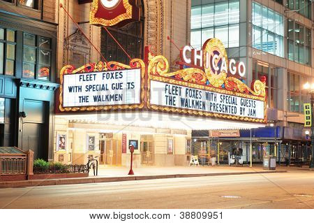 CHICAGO, IL - OCT. 6: Chicago Theatre interior on October 6, 2011 in Chicago, Illinois. Built in 1921, Chicago Theatre was the flagship for the B&K group and was listed as a Chicago Landmark in 1983.