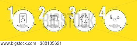Web Lectures, Approved Document And Time Management Line Icons Set. Timeline Process Infograph. Bala