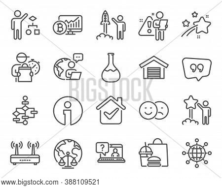 Technology Icons Set. Included Icon As Info, Wifi, Magistrates Court Signs. International Globe, Faq