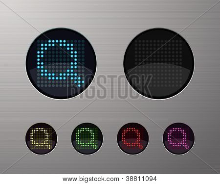 SHINY METALLIC WEB COMPUTER AND INTERNET BUTTONS