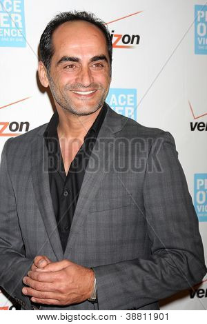 LOS ANGELES - OCT 26:  Navid Negahban arrives at the 41st Annual Peace Over Violence Humanitarian Awards at Beverly Hills Hotel on October 26, 2012 in Beverly Hills, CA