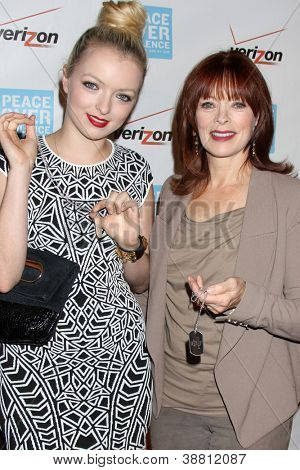 LOS ANGELES - OCT 26:  Francesca Eastwood, Frances Fisher arrives at the 41st Annual Peace Over Violence Humanitarian Awards at Beverly Hills Hotel on October 26, 2012 in Beverly Hills, CA