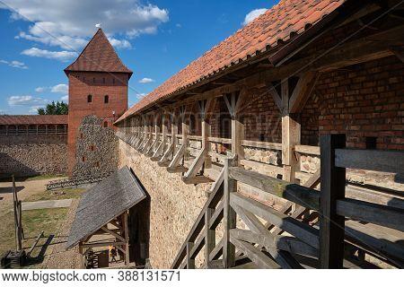 Belorussian Tourist Landmark Attraction - Old Retro Lida Castle, Grodno Region, Belarus.
