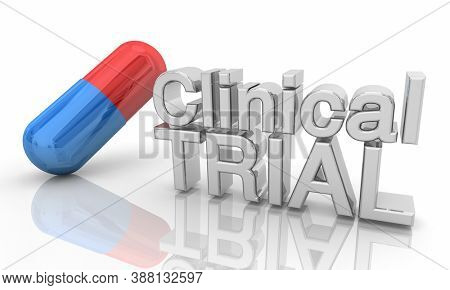 Clinical Trial New Vaccine Testing Medicine Drug 3d Illustration