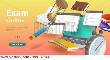 Online Testing, Questionnaire Form, Internet Quiz Or Survey, Distant Education.