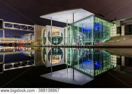 Berlin / Germany - February 16, 2017: The Marie-elisabeth-lüders House, Parliamentary Complex In The