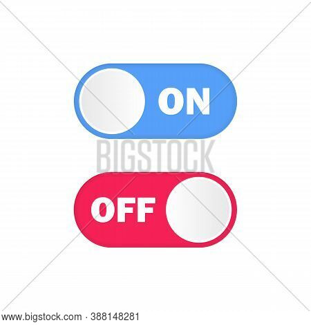 On And Off Button. Toggle Switch. Vector Eps 10. Isolated On White Background