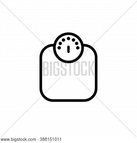 Weighing Line Icon. Weight Scale Sign. Vector Eps 10. Isolated On White Background.