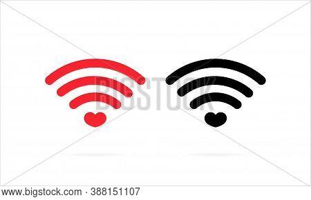 Heart Wifi Icon. Heart Connect Icon. Heart Signal. Love Connection Signal. Love Signal. Wifi Signal.