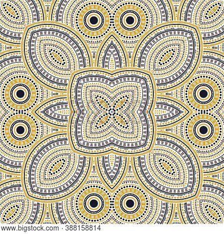 Modern Portugese Azulejo Tile Seamless Pattern. Geometric Texture Vector Elements. Quilt Print Desig