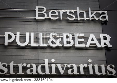 Belgrade, Serbia - August 19, 2020: Pull&bear Logo In Front Of Their Store For Belgrade. Pull And Be