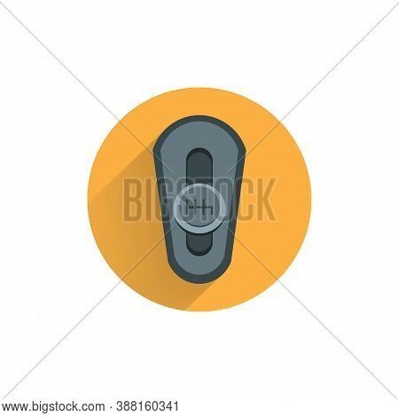 Gear Box Colorful Flat Icon With Long Shadow. Manual Gearbox Flat Icon