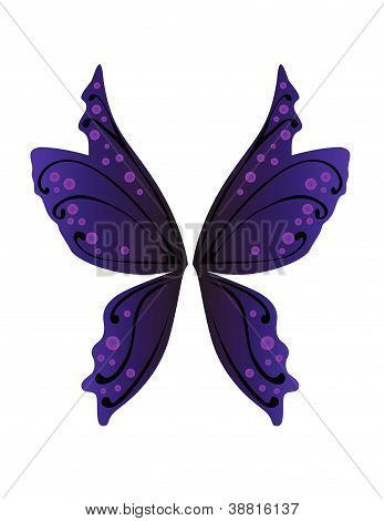 Vector illustration of fairy wings