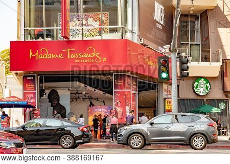 Hollywood, California - October 09 2019: Madame Tussauds Wax Museum And Famous Tourist Attraction On