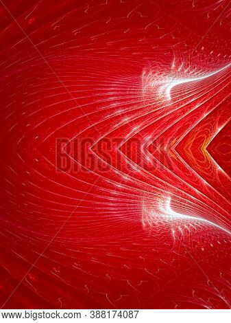 Hell, design display with fractals, creative background plant leaves, waves and sinuous shapes, decorative image for advertising or designs
