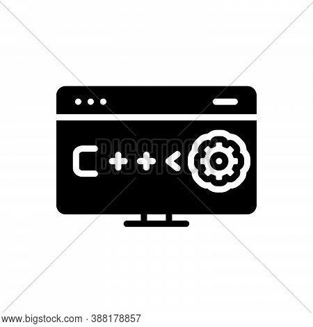 Black Solid Icon For Program Scheme Plan Plan-of-action Schedule Project Website Analytics Code Opti