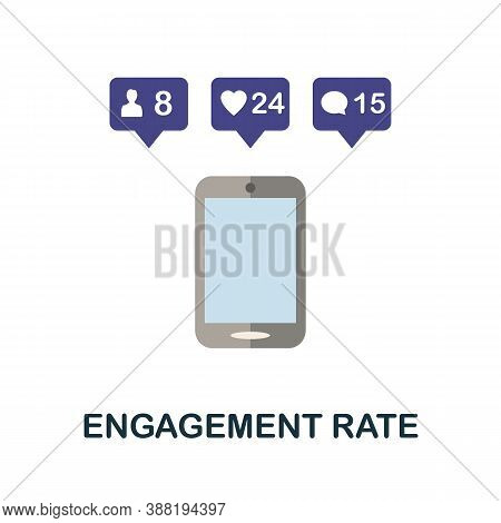 Engagement Rate Icon. Simple Element From Blogging Collection. Creative Engagement Rate Icon For Web