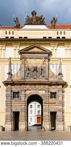 Matthias Gate Between The First And The Second Courtyard Of Prague Castle, Praha, Czech Republic.