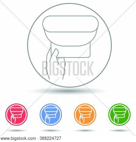 Wipe Skin Paper Tissue. Wash Hand. Personal Hygiene. White Napkin Machine Vector Icon