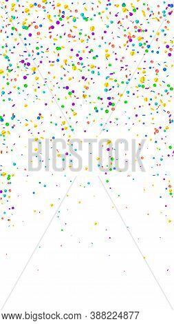 Festive Artistic Confetti. Celebration Stars. Bright Confetti On White Background. Gorgeous Festive