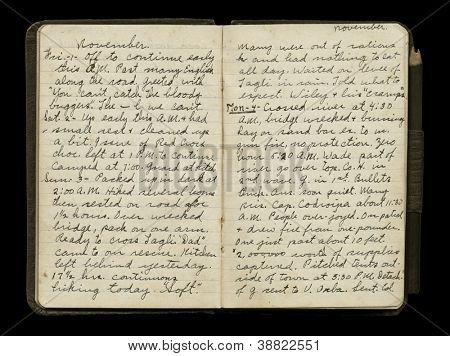WWI American Soldier's Diary Pages