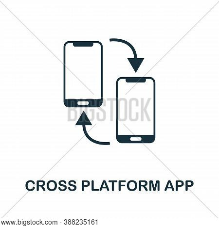 Cross Platform App Icon. Simple Element From App Development Collection. Filled Cross Platform App I