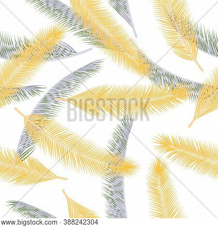 Organic Feather Plumelet Vector Ornament. Boho Background. Ethnic Aztec Feather Plumelet Fabric Prin
