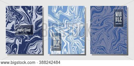 Modern Marble Prints, Vector Cover Design Templates. Fluid Marble Stone Texture Iinteriors Fashion M