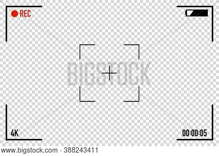 Video Camera View Finder Frame Screen Vector Illustration