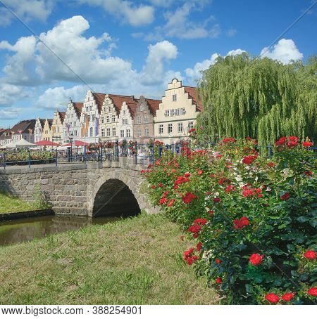 Friedrichstadt At Treene River In North Frisia,germany